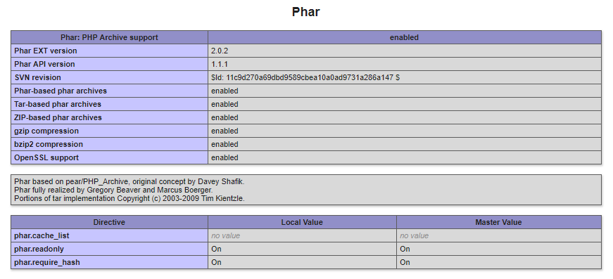 phar extension