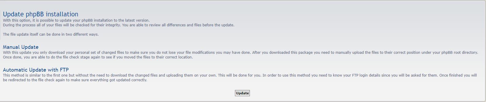 upgrading phpbb