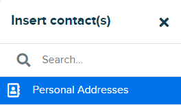 add personal address
