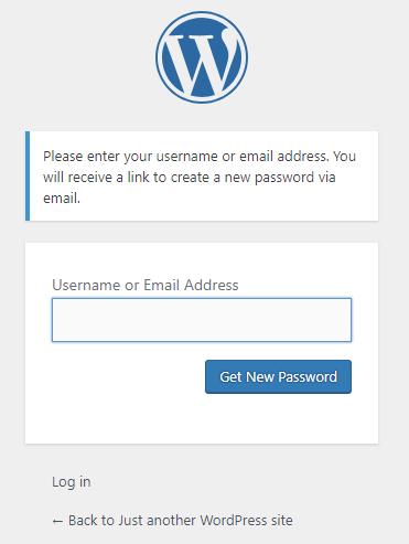 lost wordpress password
