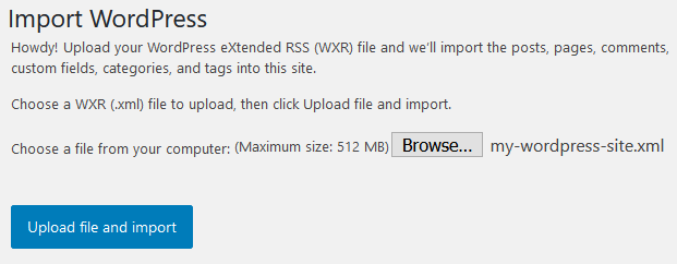 wp export